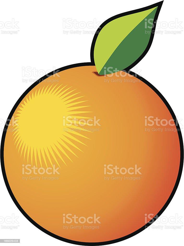 Orange (vector) royalty-free stock vector art