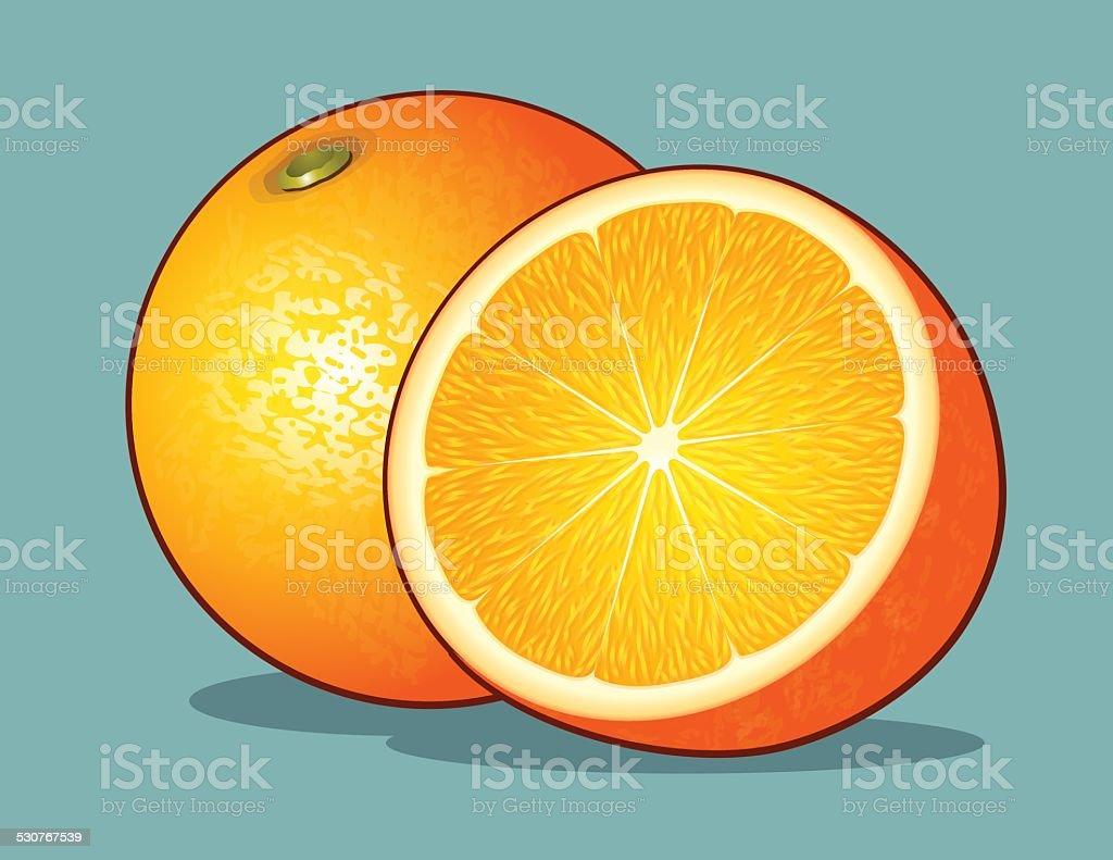 Orange vector art illustration