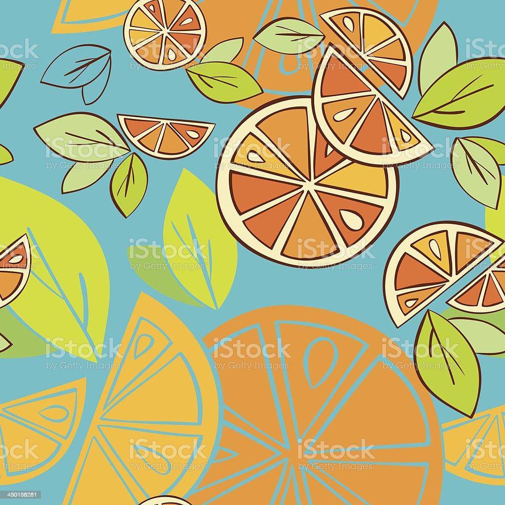 orange vetor padrão sem emendas vetor e ilustração royalty-free royalty-free