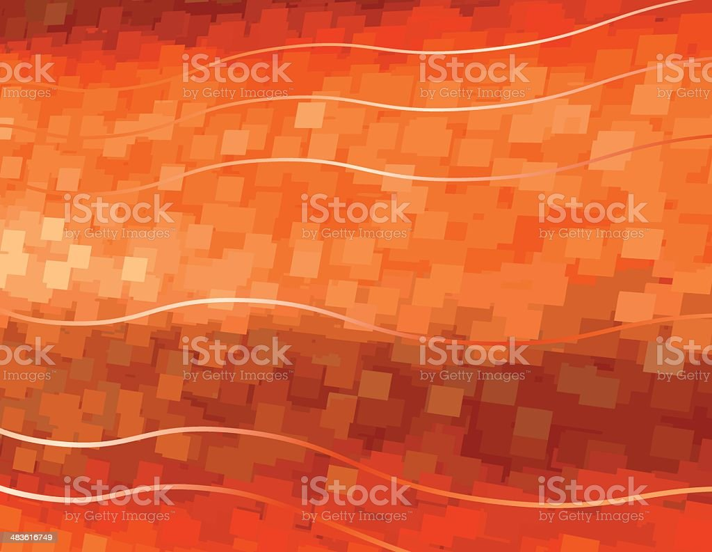 Orange Waves royalty-free stock vector art