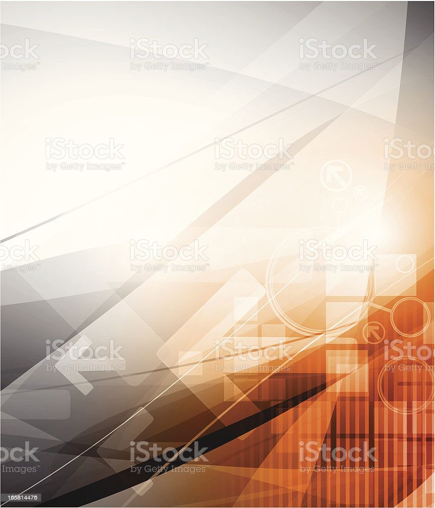 Orange/gray background royalty-free stock vector art