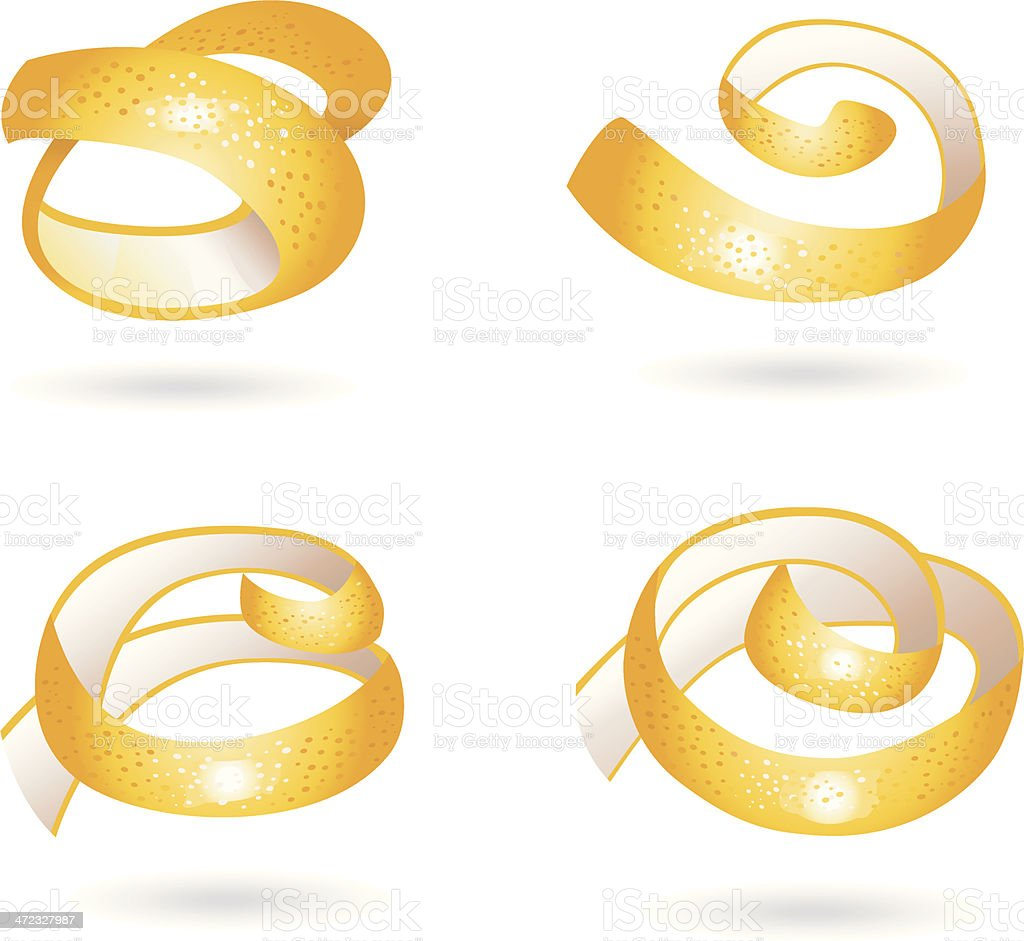 orangepeel pieces. royalty-free stock vector art