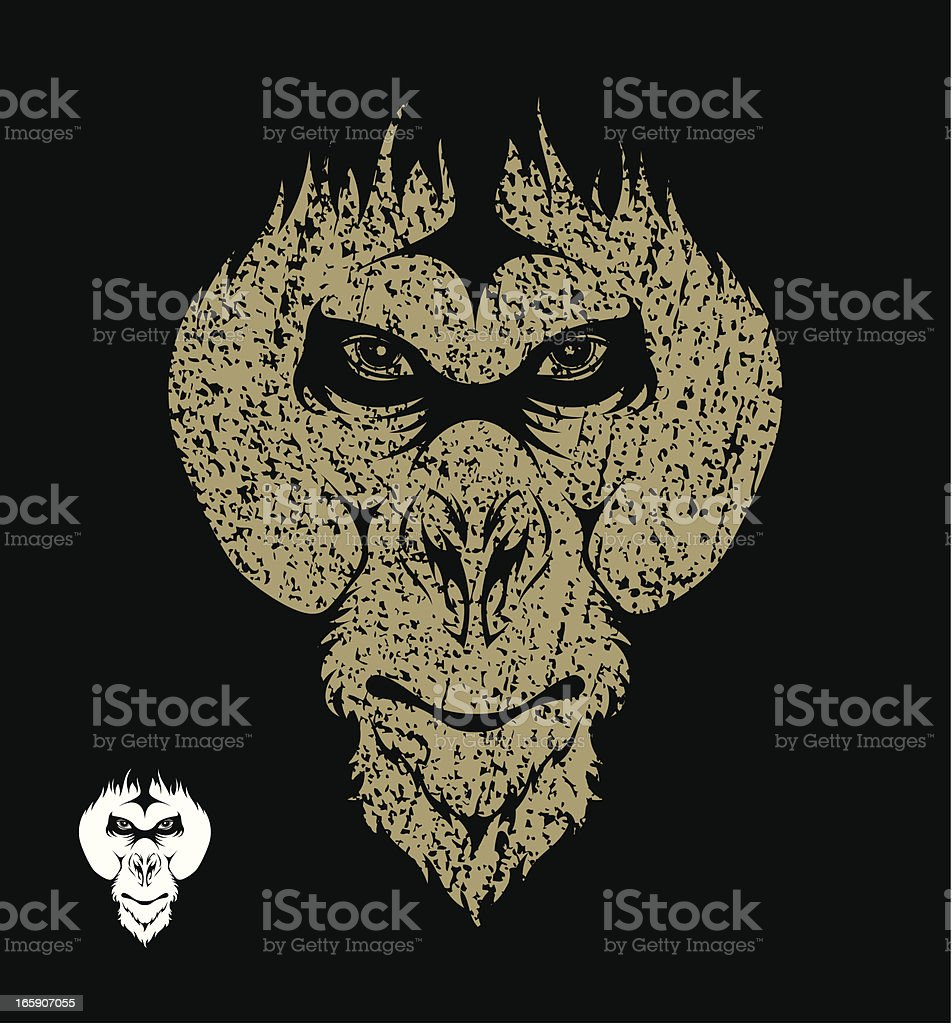 Orangutan royalty-free stock vector art