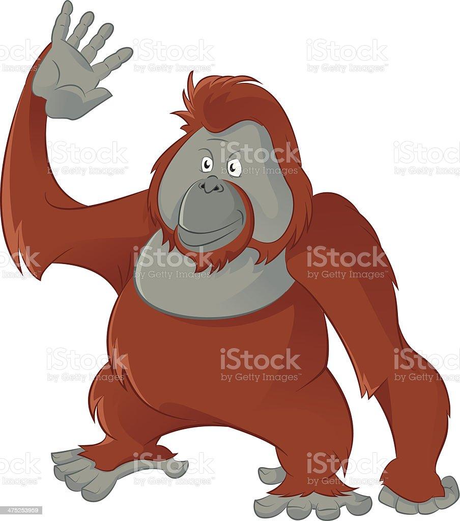 orangutan clip art  vector images   illustrations istock clipart orangutan hanging Baby Orangutan Clip Art