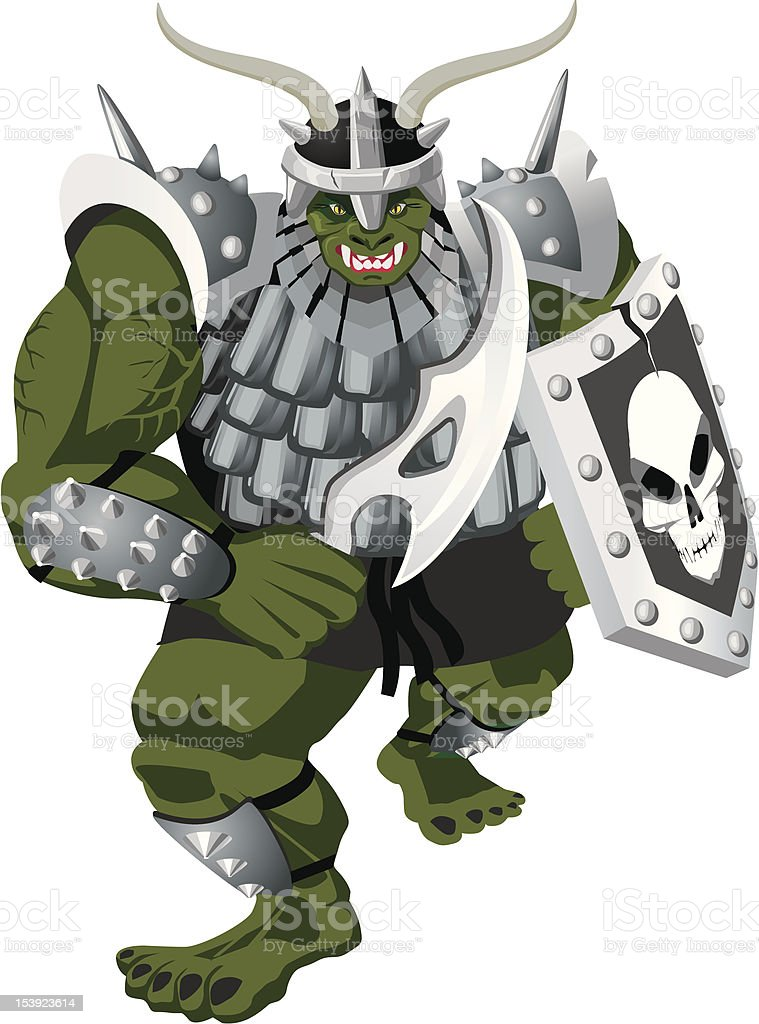 Orc royalty-free stock vector art