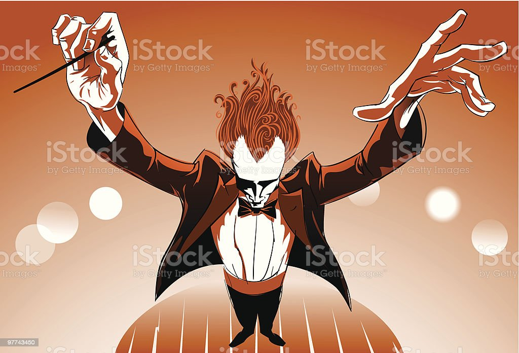 Orchestra Conductor vector art illustration