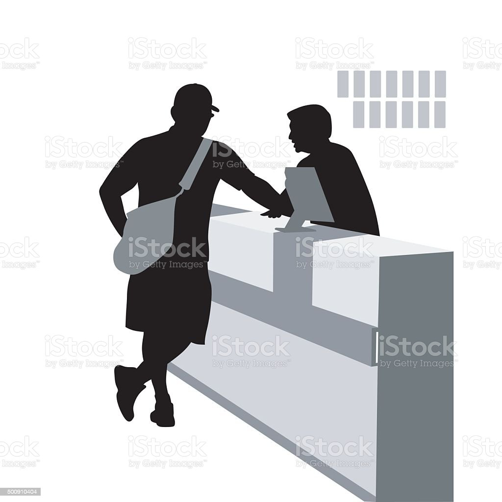 Order Desk vector art illustration