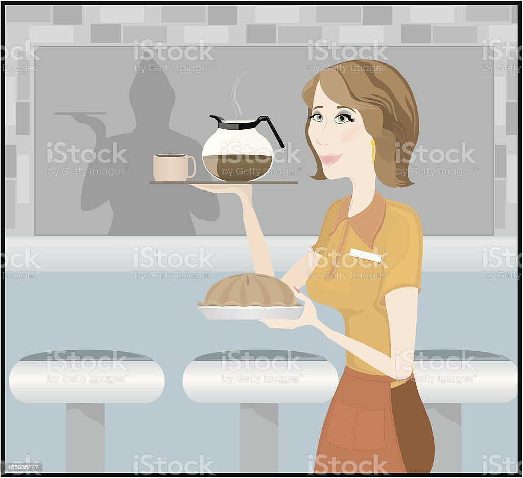 Order Up! vector art illustration
