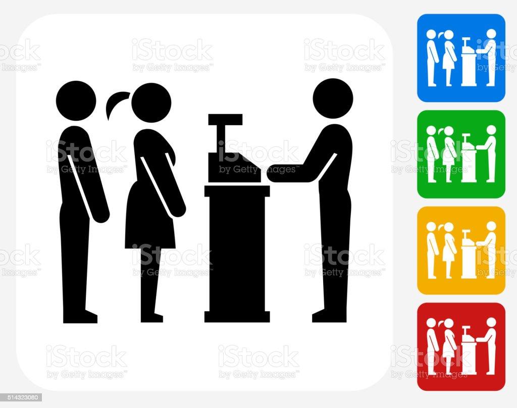 Ordering Line Icon Flat Graphic Design vector art illustration