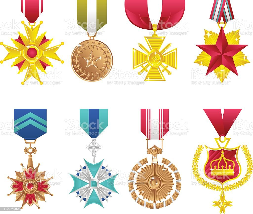 Orders and honours royalty-free stock vector art