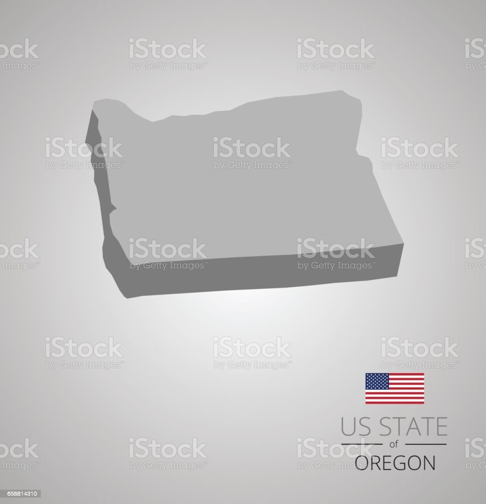 Oregon State Map Stock Vector Art  IStock - Map of oregon state usa