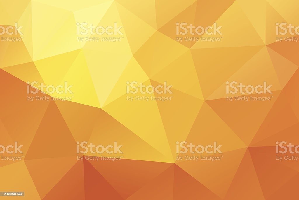 Orenge low polygonal abstract background royalty-free stock vector art