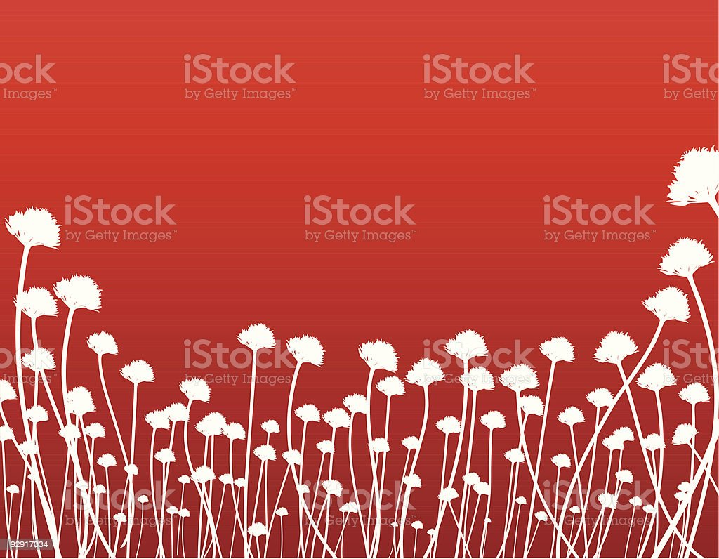 Organic background in red (vector & jpeg) royalty-free stock vector art