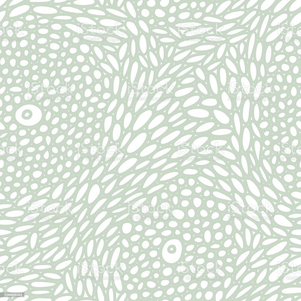 Organic cell structure seamless pattern vector art illustration