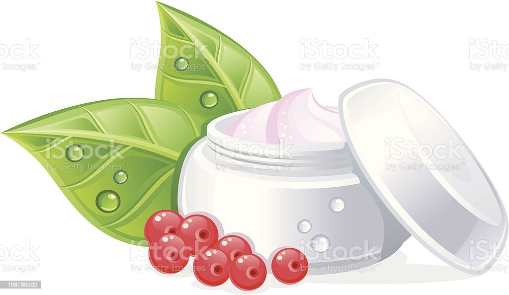 Organic cosmetics royalty-free stock vector art