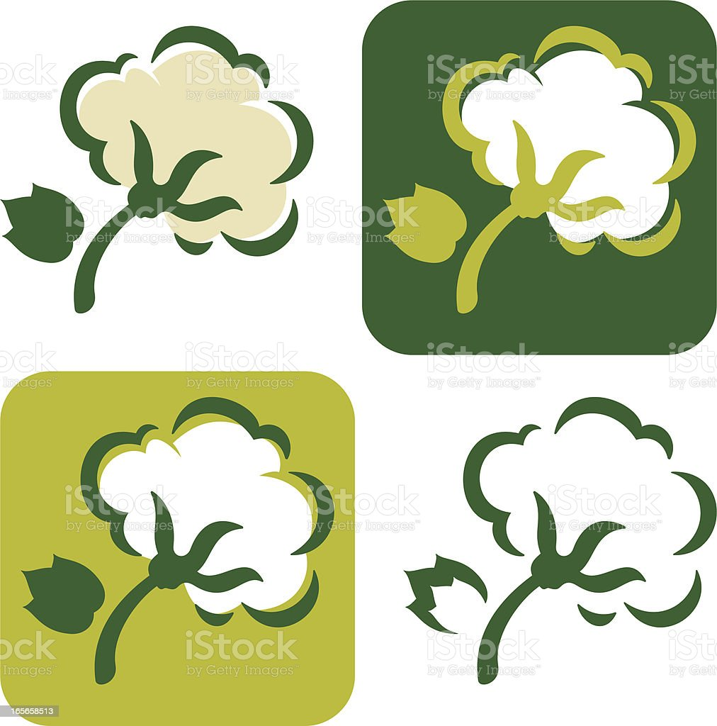 Organic cotton icon vector art illustration