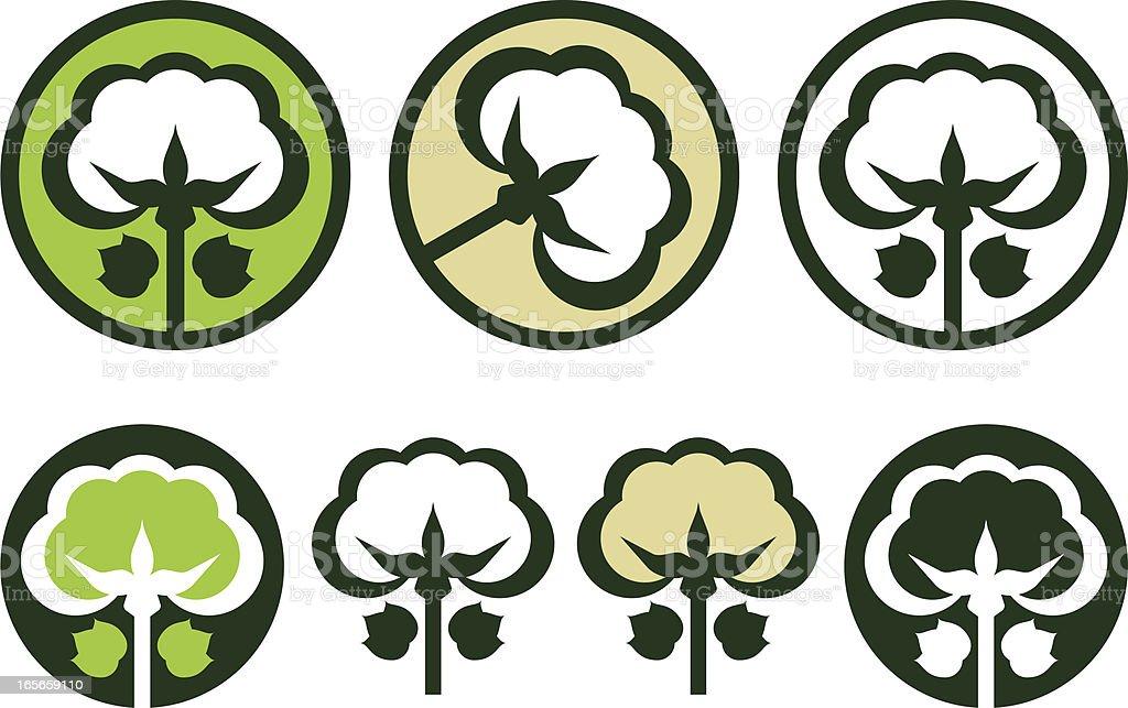 Organic cotton icon vector art illustration