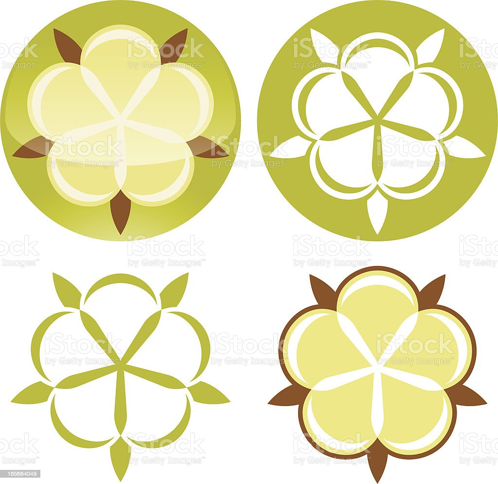 Organic cotton icon royalty-free stock vector art