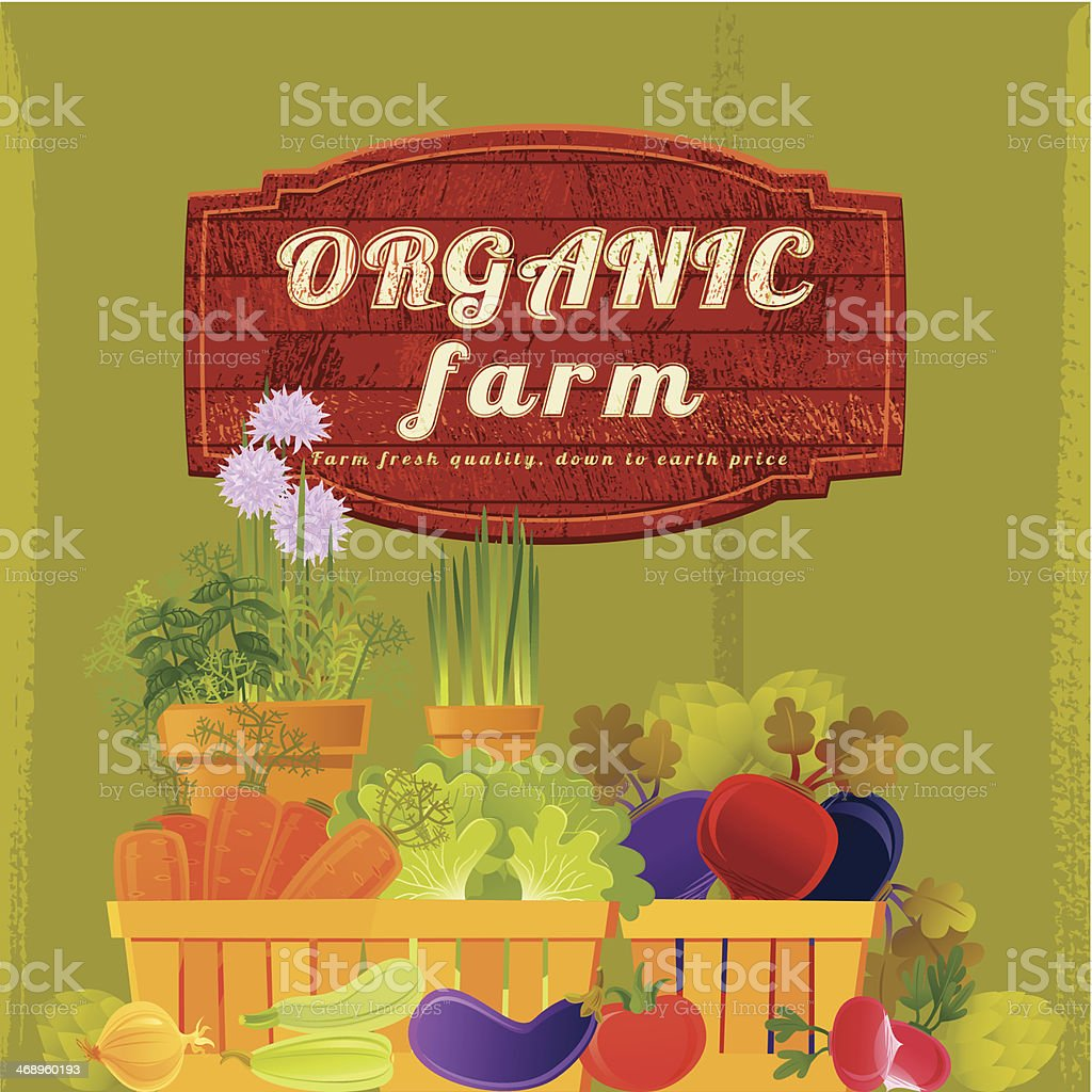 Organic Farm Background royalty-free stock vector art