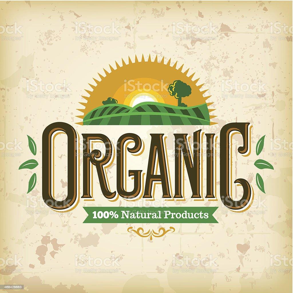 Organic Farm Fresh Label royalty-free stock vector art