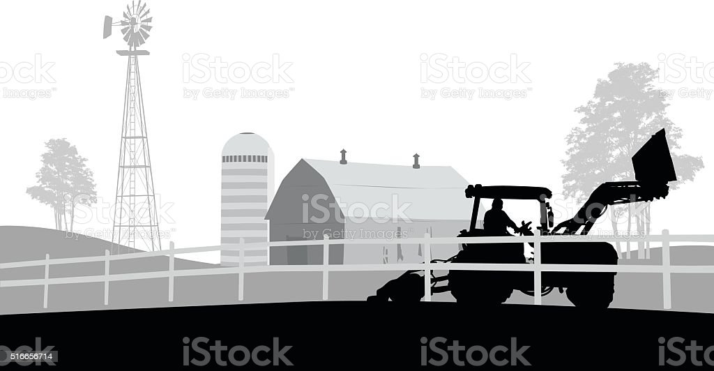 Organic Farmer vector art illustration