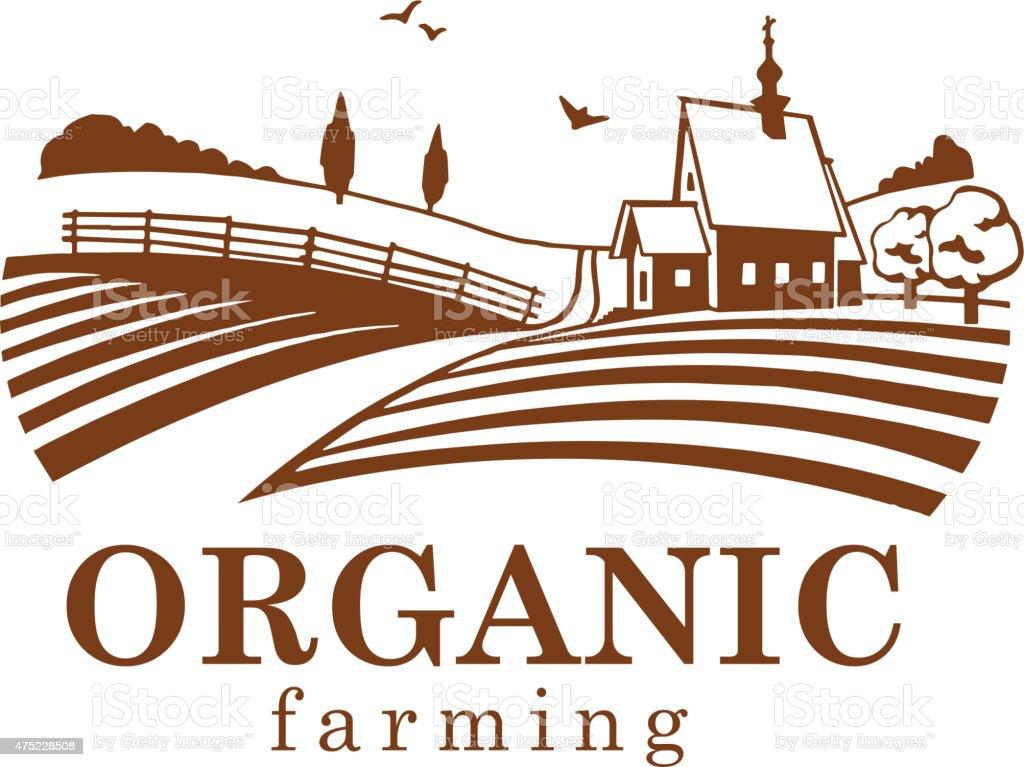 Organic farming design element. vector art illustration