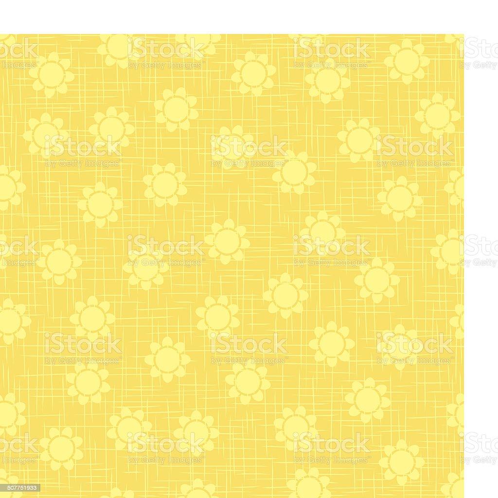 Organic flower pattern vector art illustration