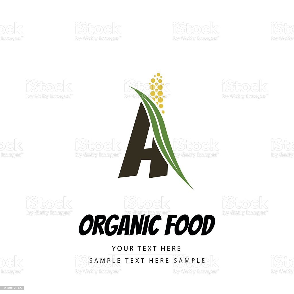Organic food concept with millet twig vector art illustration