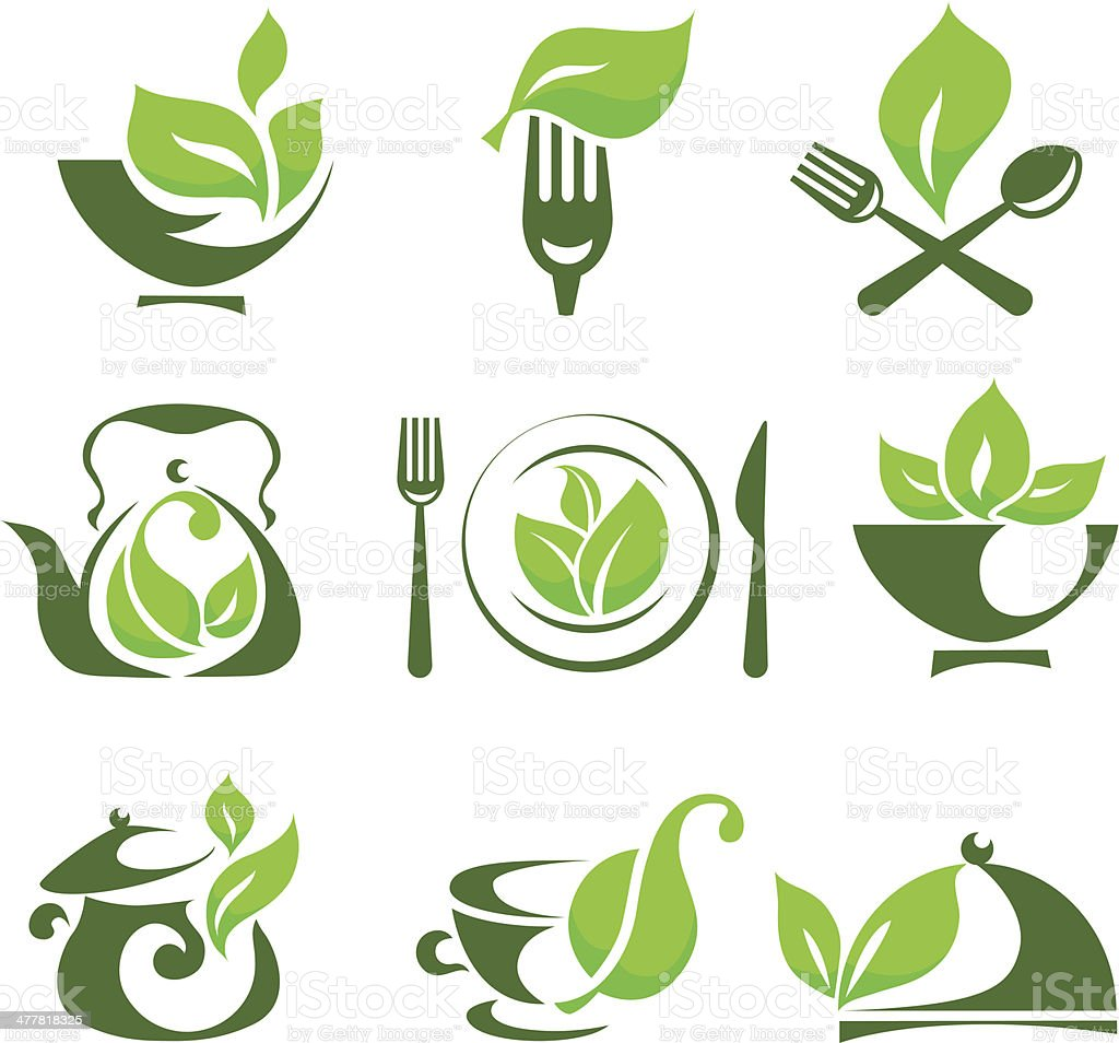 Organic food design elements royalty-free stock vector art