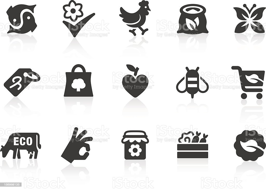 Organic Food icons vector art illustration