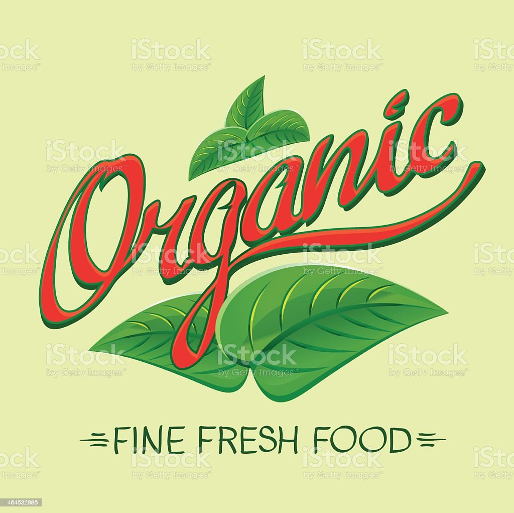 Organic food vector art illustration