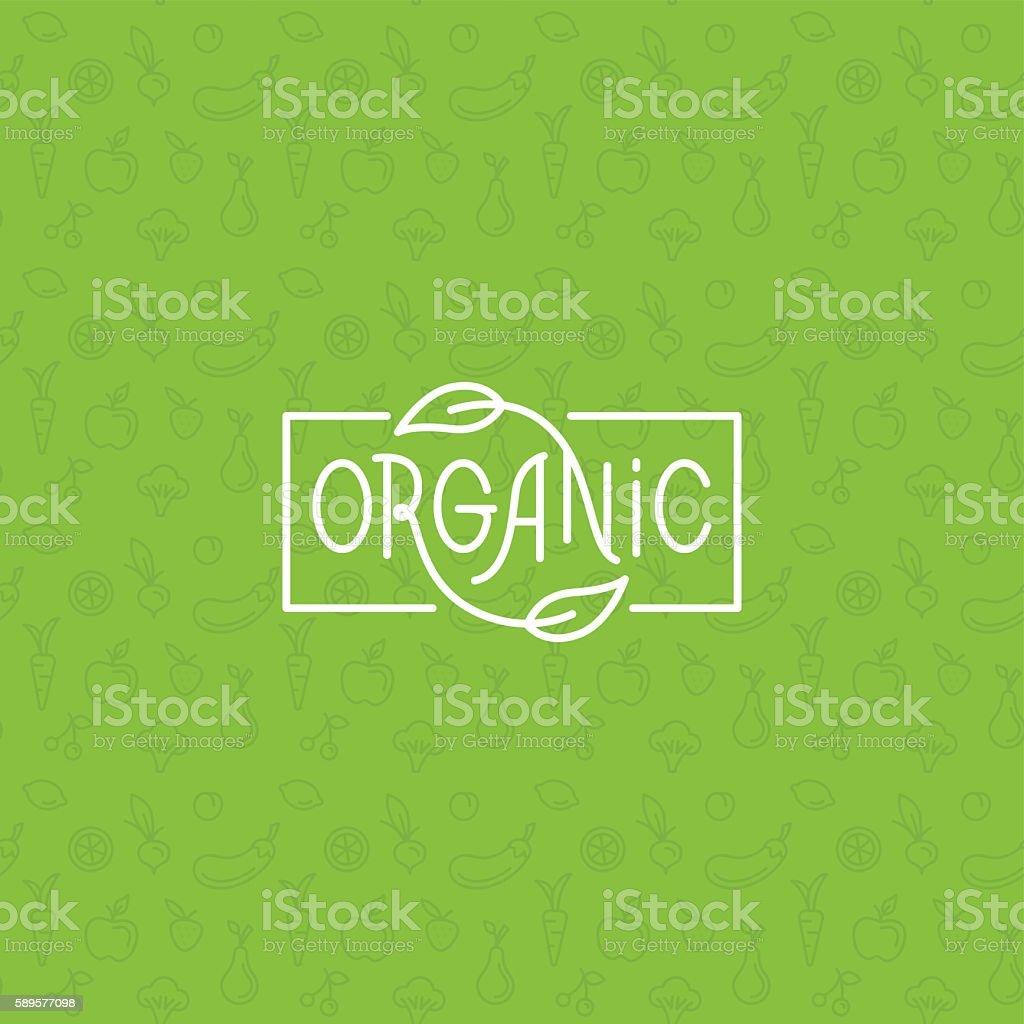 Organic food royalty-free stock vector art