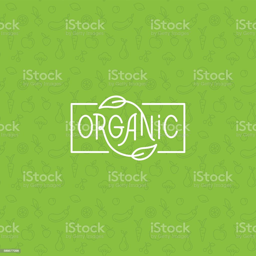 Organic food vector art illustration