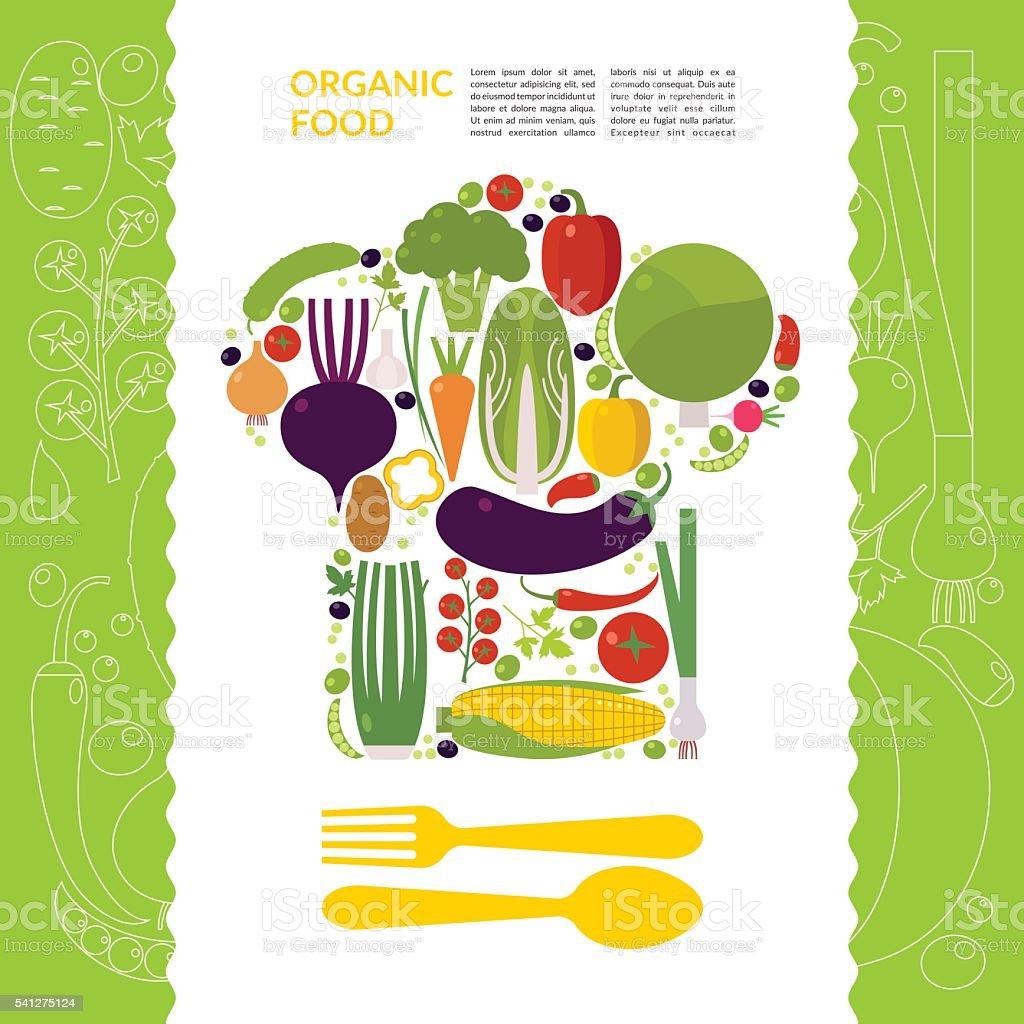 Organic food. Vector illustration vector art illustration
