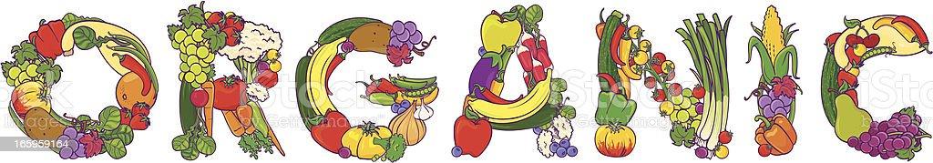 Organic Food Word royalty-free stock vector art