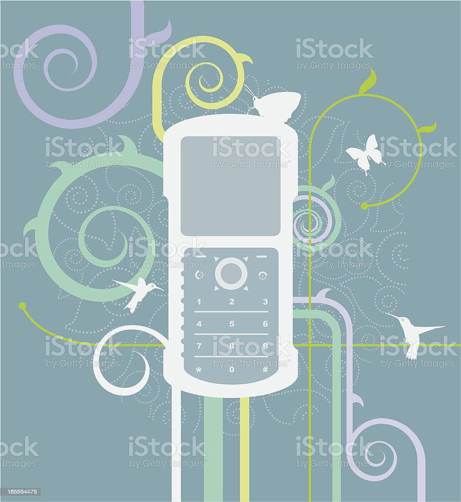 Organic Graphic - Cell Phone royalty-free stock vector art