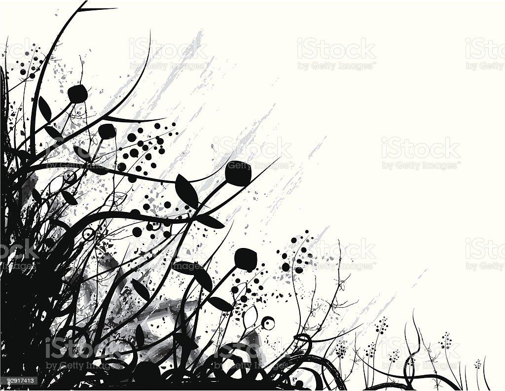 Organic grunge frame (vector & jpeg) vector art illustration