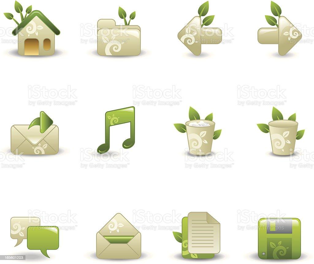 Organic Icons - Desktop royalty-free stock vector art
