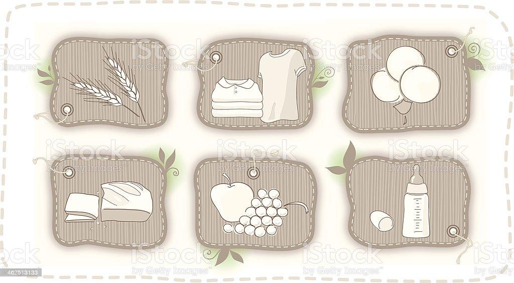 Organic life labels vector art illustration