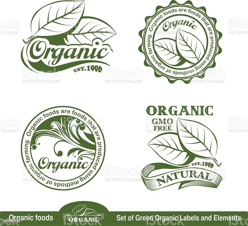 Organic logo vector art illustration
