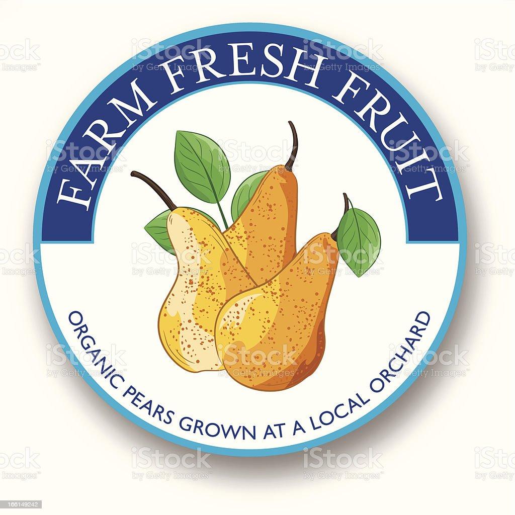 Organic Pears Label royalty-free stock vector art