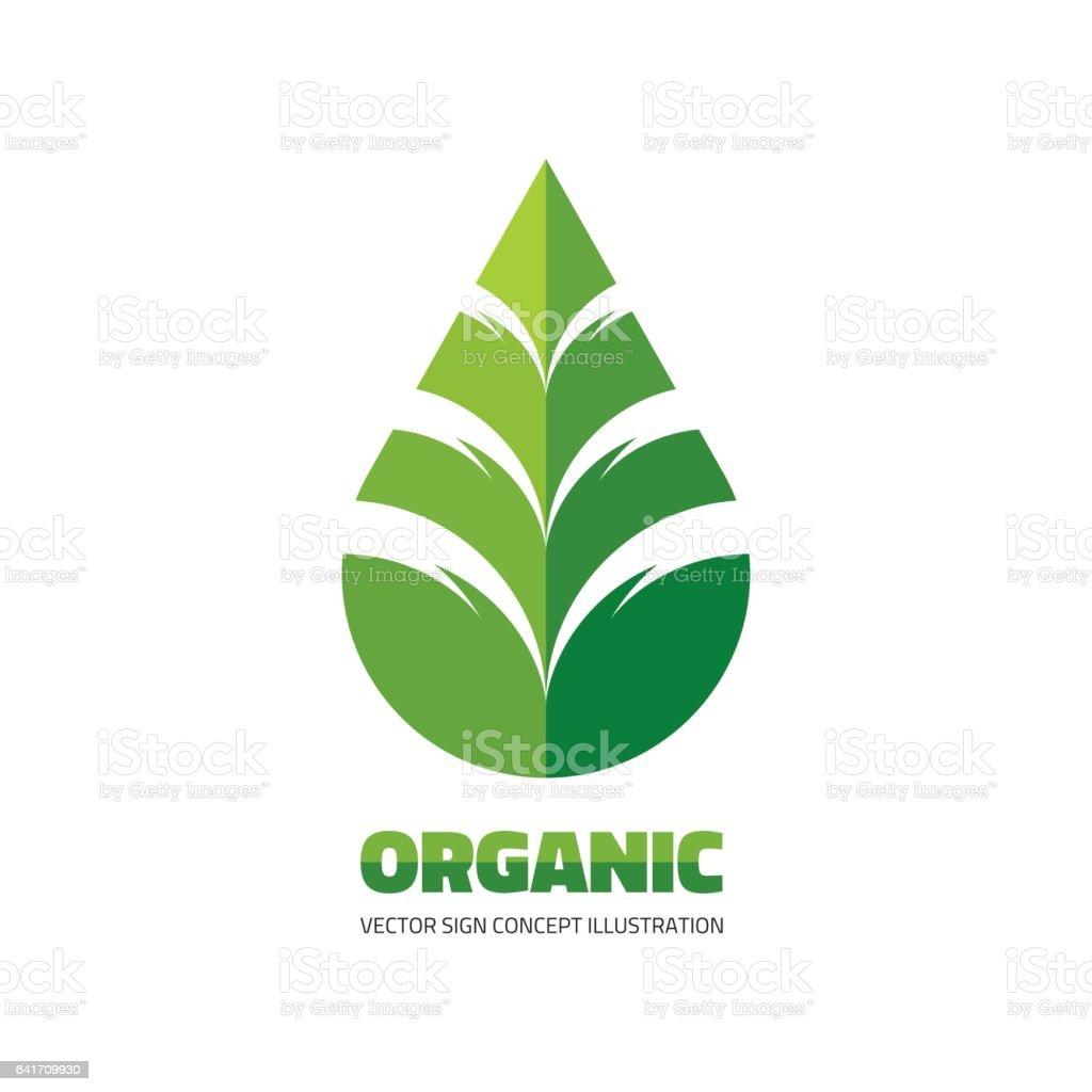 Organic Leaf Symbol Organic Leaf Symbol