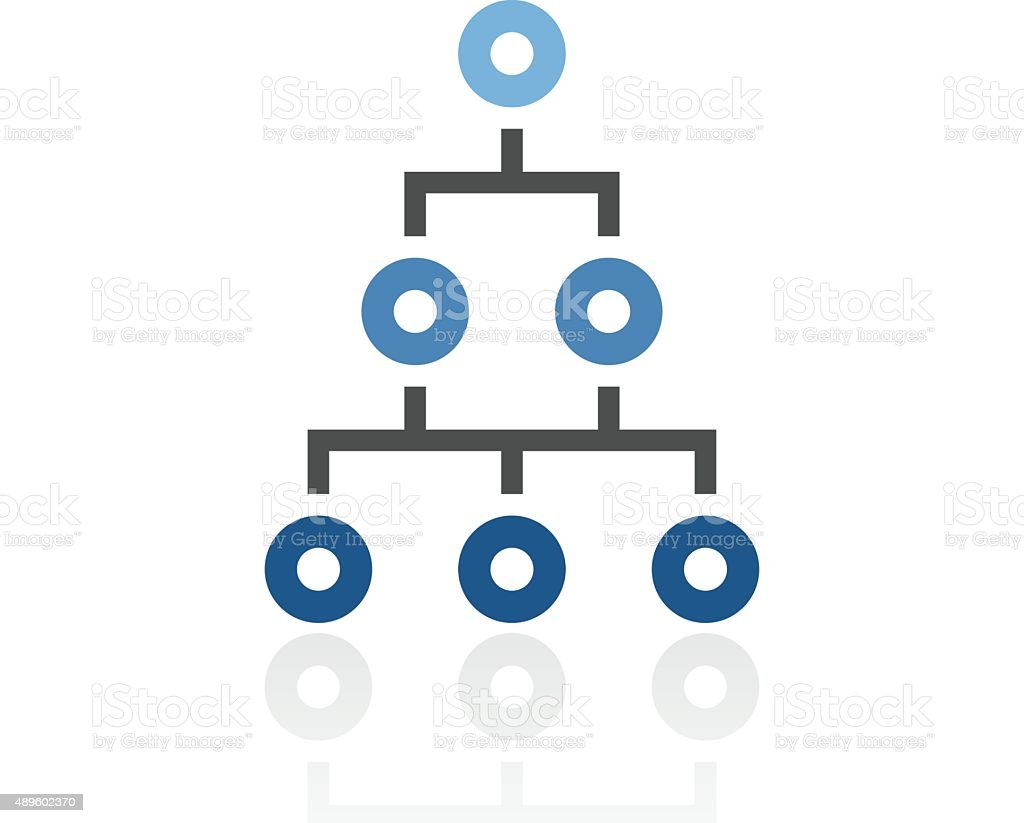 Organization Chart icon on a white background. - Royal Series vector art illustration