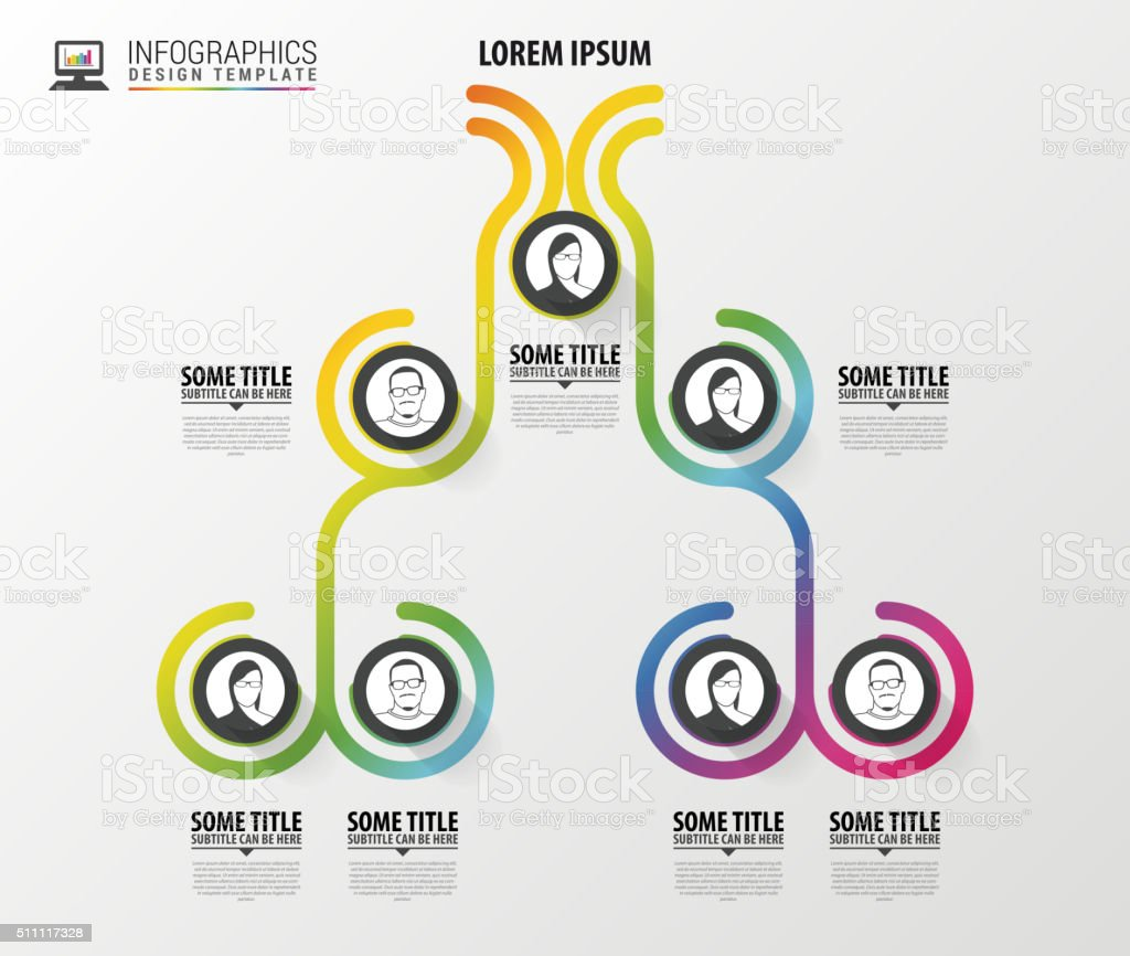 Organization chart infographics design. Infographics. Vector illustration vector art illustration
