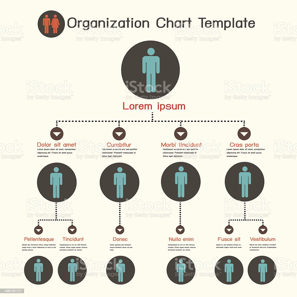 Organization chart template vector art illustration