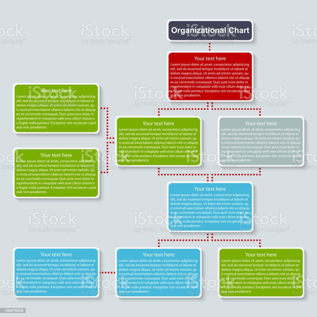 Organization chart template. vector art illustration