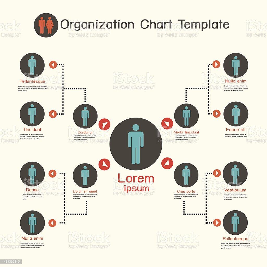 Organization chart template,business presentation vector art illustration