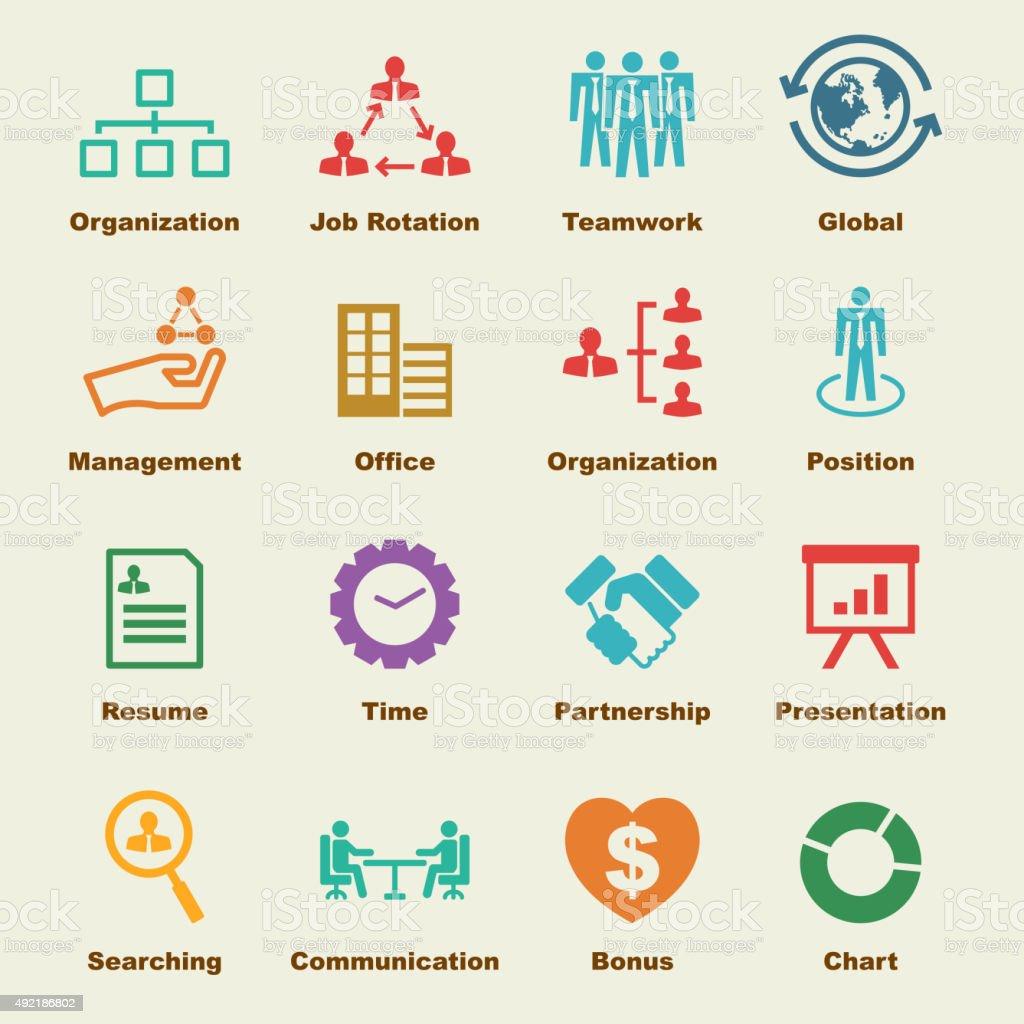 organization elements vector art illustration
