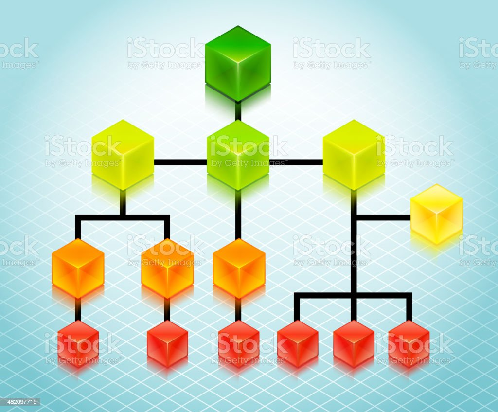 Organizational Chart Business Background royalty-free stock vector art