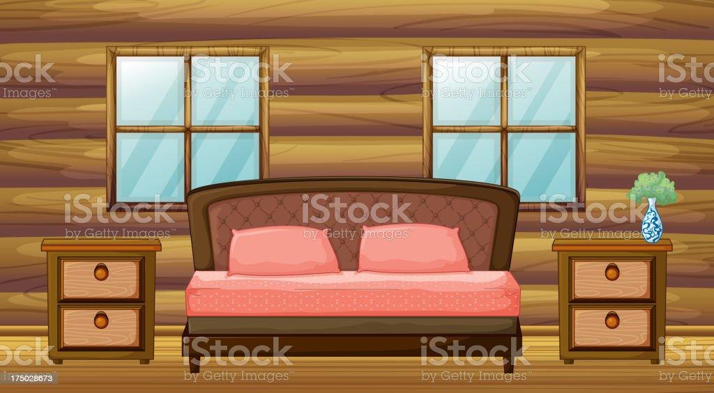 organized bedroom royalty-free stock vector art